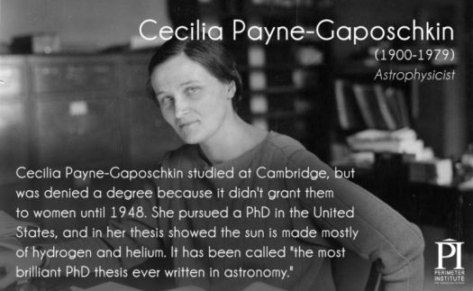 Brilliant female physicist.
