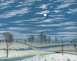 Winter Scenes in Moonlight